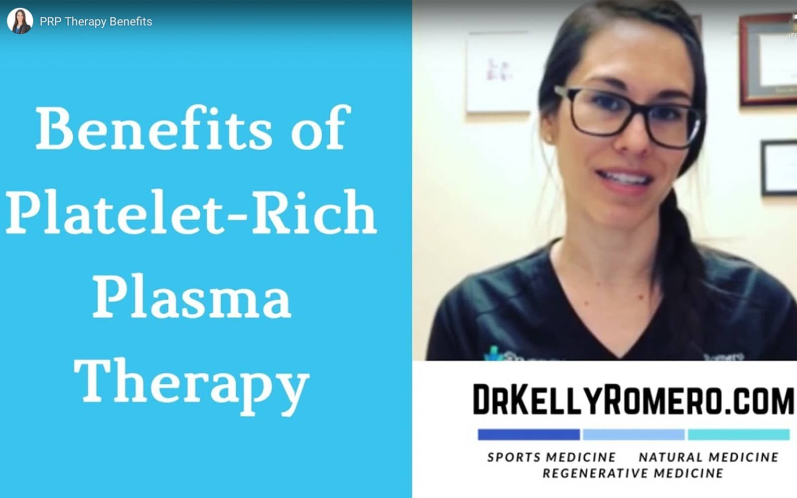 PRP Therapy Benefits - Dr. Kelly Romero
